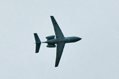 謎のジェット機